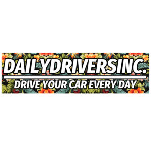 Drive Every Day Floral Bumper Sticker