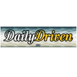 Daily Driven Skyline Bumper Sticker