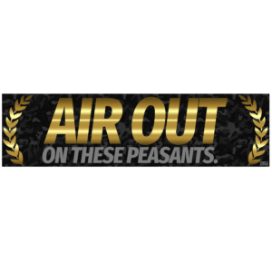 Air Out Bumper Sticker