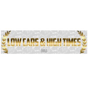 Low Cars & High Times Bumper Sticker