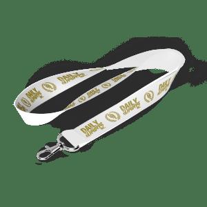 Logos Lanyard White/Gold