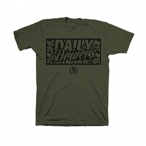 Logo Floral Military Green T-Shirt