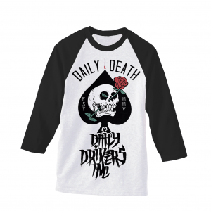 Daily Til Death Rose Raglan T-Shirt